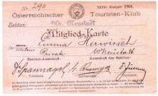 Mitgliedsausweis 1904